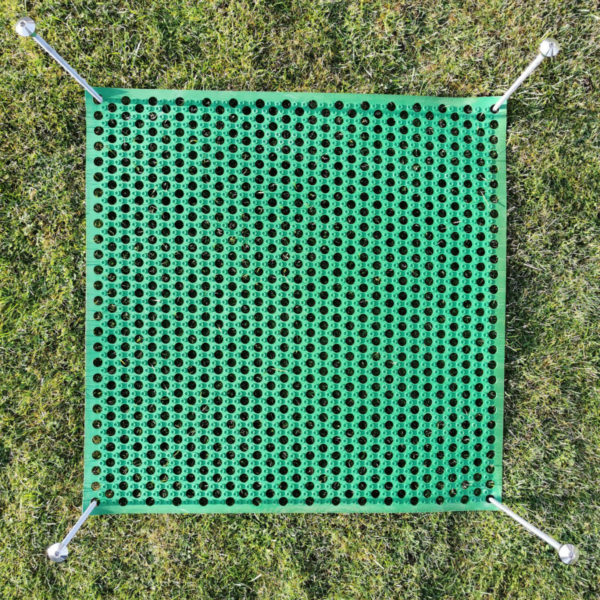 Rasenschutzmatte grün + Erdnägel V2A